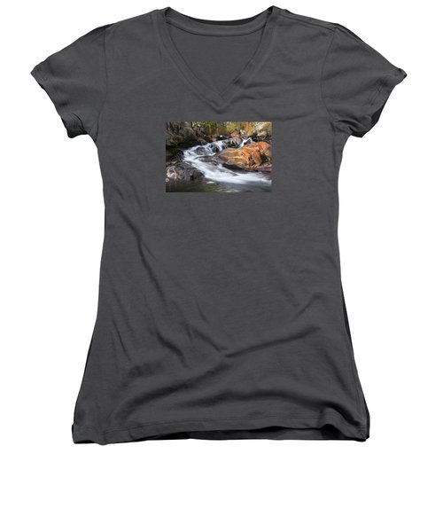 Waterfall In Lee Vining Canyon 2 Women's V-Neck