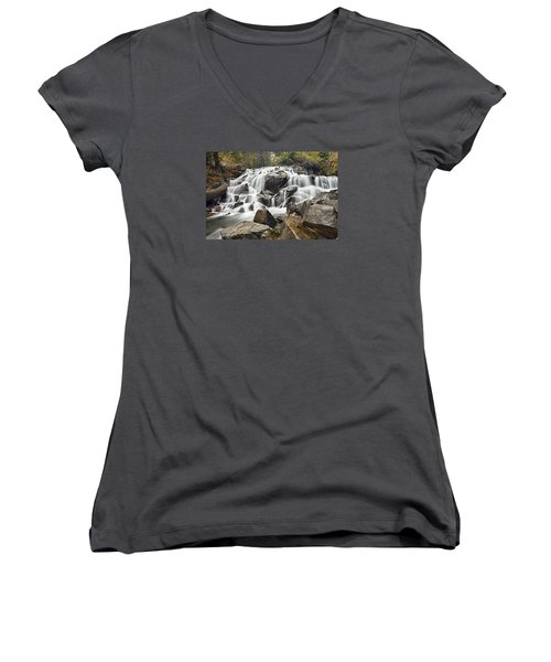 Waterfall In Lee Vining Canyon Women's V-Neck (Athletic Fit)