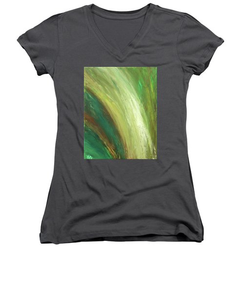 Waterfalls  Women's V-Neck (Athletic Fit)