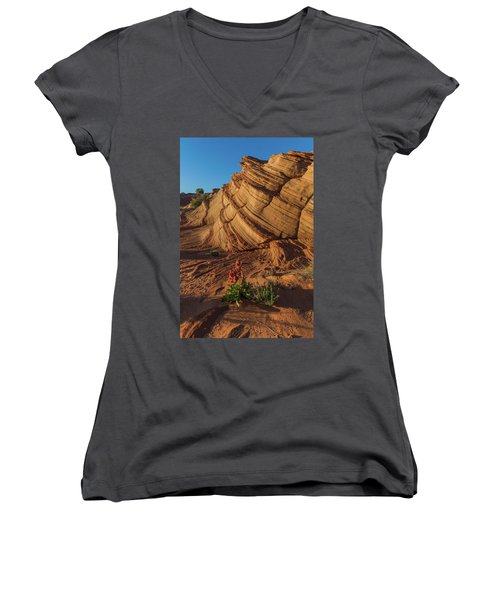 Waterhole Canyon Evening Solitude Women's V-Neck