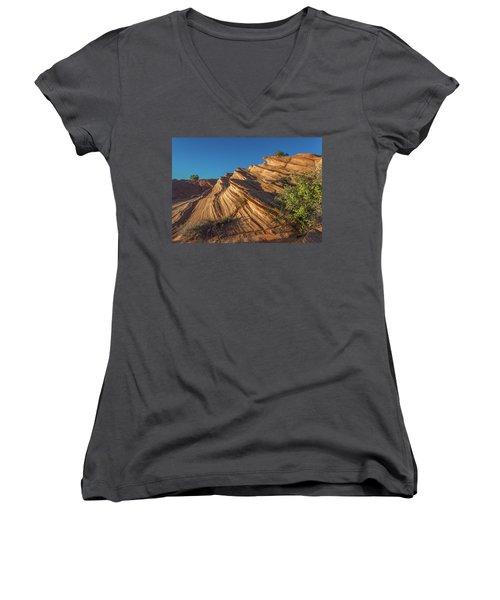 Waterhole Canyon Rock Formation Women's V-Neck