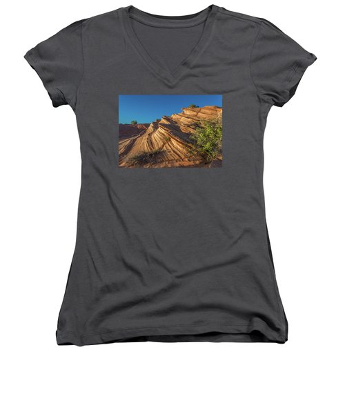 Waterhole Canyon Rock Formation Women's V-Neck