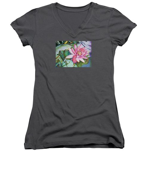 Waterlily Women's V-Neck T-Shirt