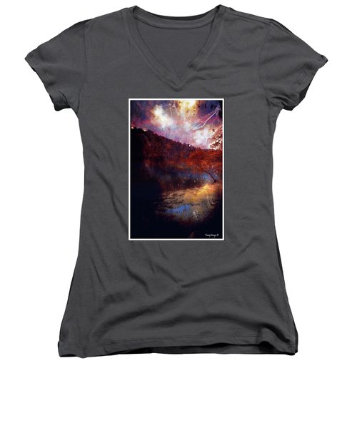 Waters Edge Women's V-Neck T-Shirt