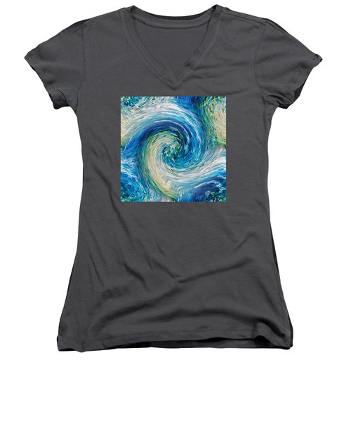Wave To Van Gogh II Women's V-Neck
