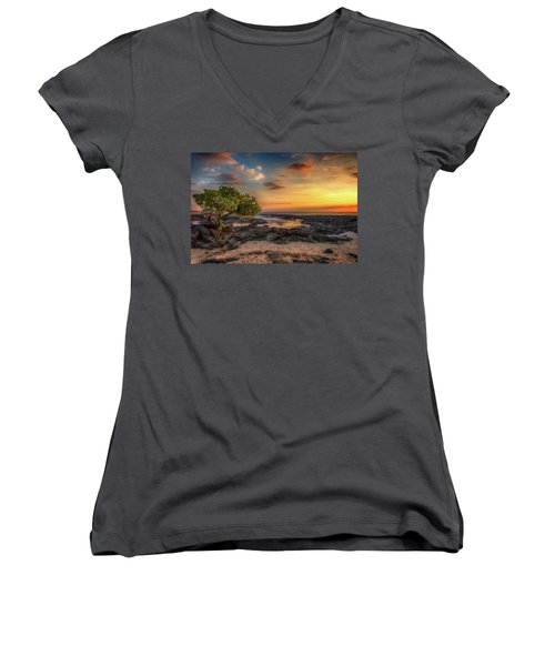 Wawaloli Beach Sunset Women's V-Neck
