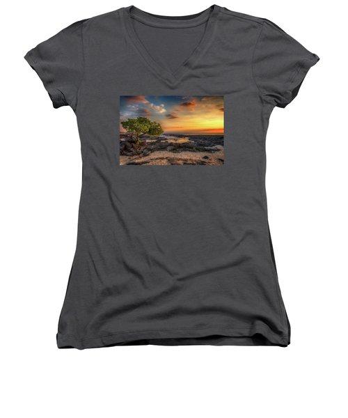Wawaloli Beach Sunset Women's V-Neck