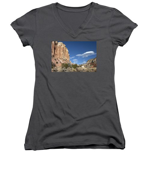 Way In The Distance Women's V-Neck (Athletic Fit)