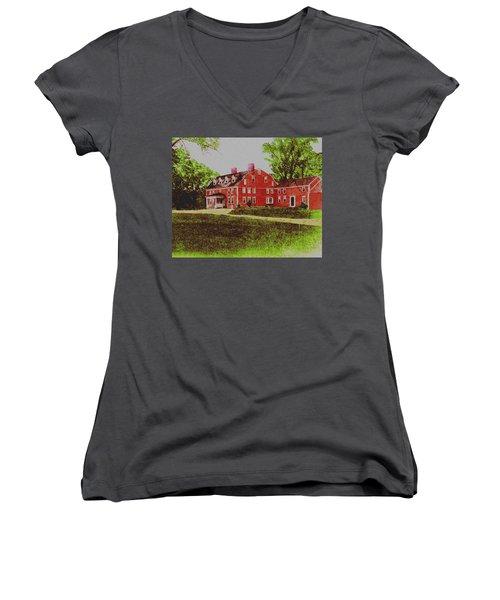 Wayside Inn 1875 Women's V-Neck T-Shirt