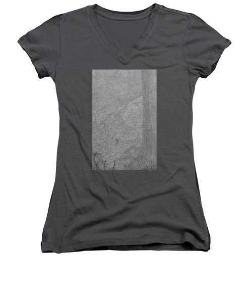 Wayward Wizard Women's V-Neck T-Shirt (Junior Cut) by Corbin Cox