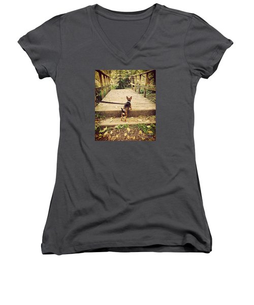 We All Have Our Paths Women's V-Neck (Athletic Fit)