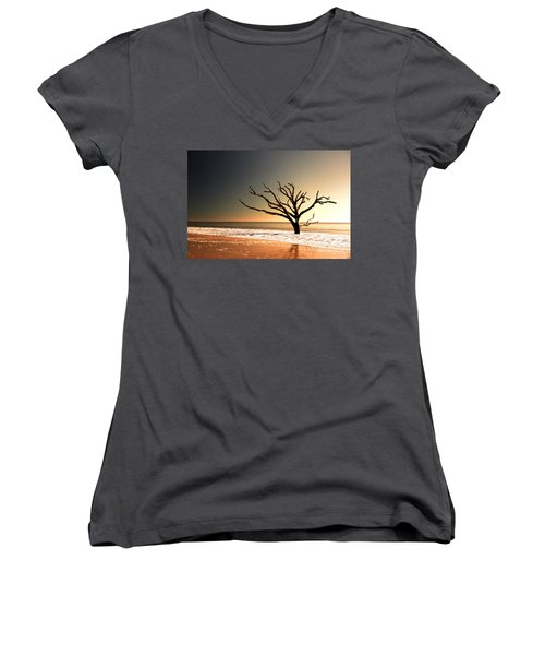 Women's V-Neck T-Shirt (Junior Cut) featuring the photograph We Can Be Heroes by Dana DiPasquale