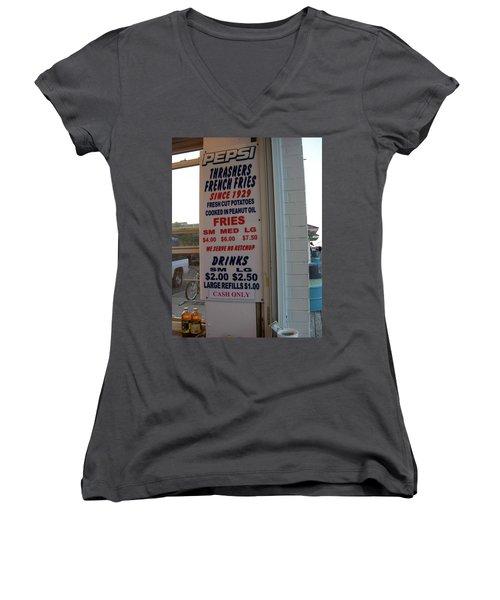 We Serve No Ketchup Women's V-Neck T-Shirt