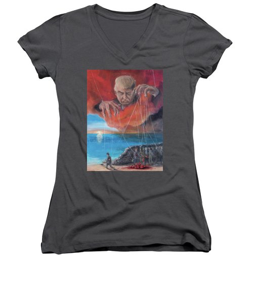 We Traded Our Hearts For Stones Women's V-Neck