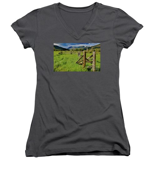 Weathered But Standing Women's V-Neck T-Shirt