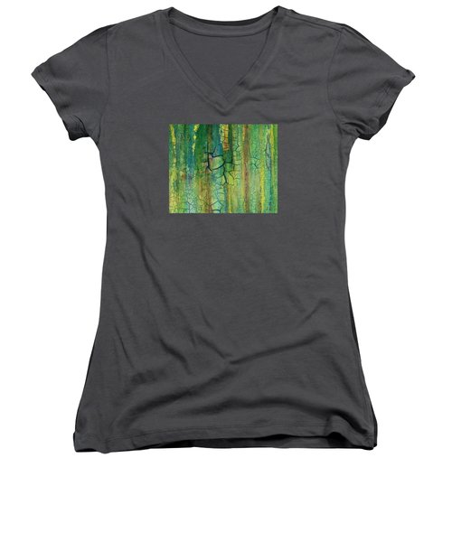 Weathered Moss Women's V-Neck T-Shirt