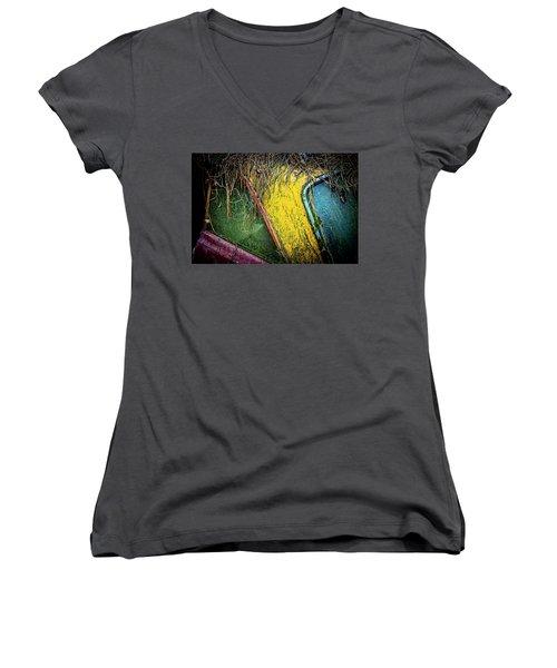 Weathered Vehicle Women's V-Neck T-Shirt