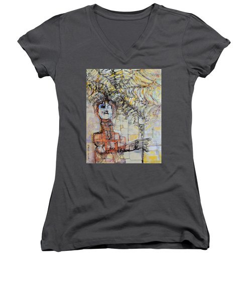 Web Of Memories Women's V-Neck