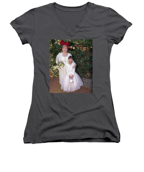 Wedding 1-4 Women's V-Neck (Athletic Fit)