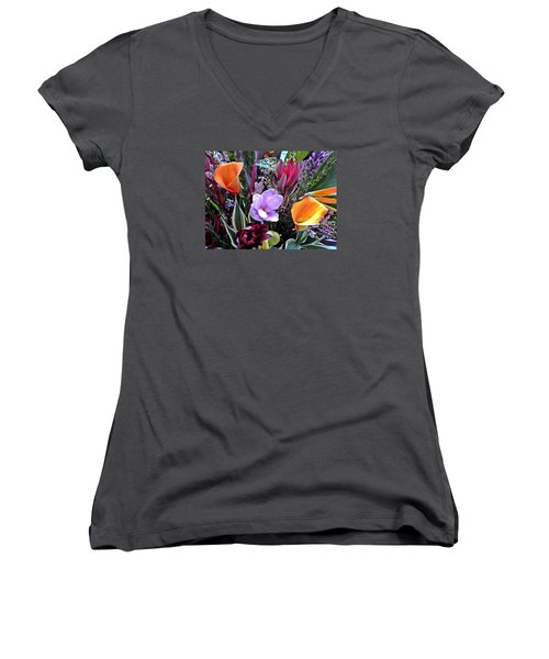 Wedding Flowers Women's V-Neck T-Shirt (Junior Cut) by Brian Chase