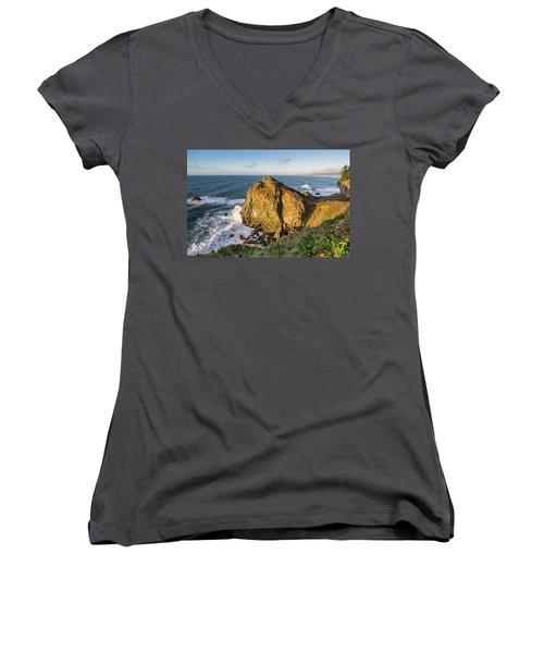 Wedding Rock Evening Light Women's V-Neck T-Shirt