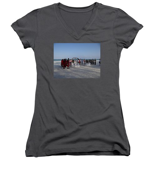 wedding with Maasai singers Women's V-Neck (Athletic Fit)