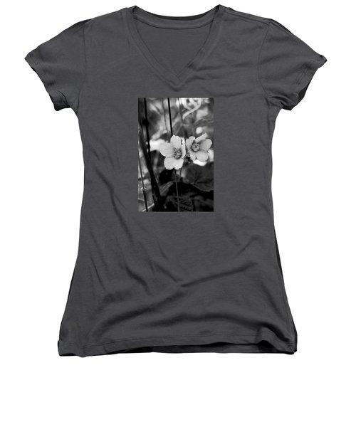 Weeds 1 Women's V-Neck T-Shirt (Junior Cut) by Simone Ochrym