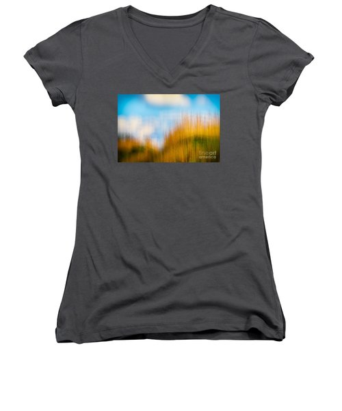 Weeds Under A Soft Blue Sky Women's V-Neck