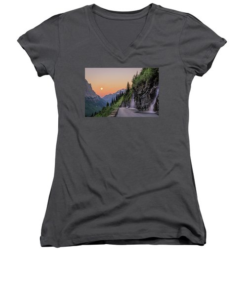 Weeping Wall Dawn Women's V-Neck (Athletic Fit)