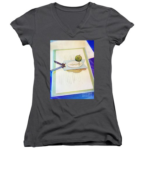 Welcome New Baby Handmade Stationary Women's V-Neck T-Shirt