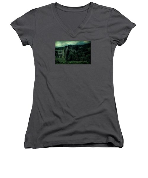 Women's V-Neck T-Shirt featuring the photograph Welcome To Wizardry School by Chris Lord
