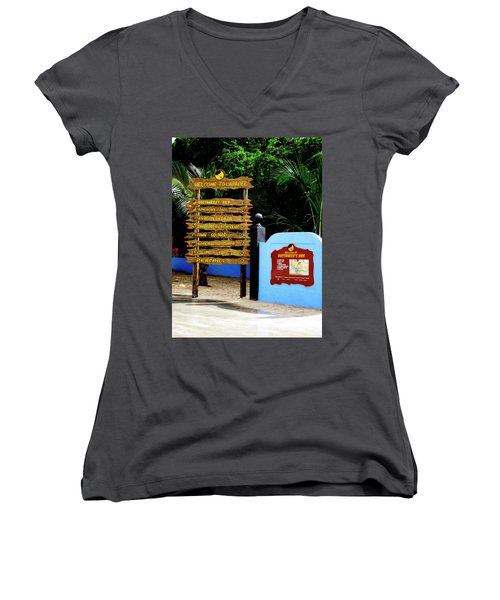 Welcome To Labadee Women's V-Neck (Athletic Fit)