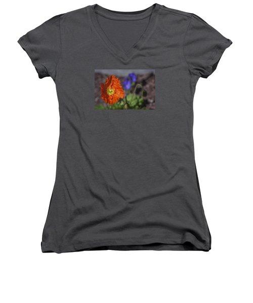 Well Hello Women's V-Neck T-Shirt (Junior Cut) by Morris  McClung
