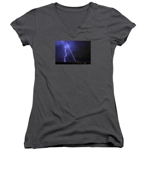 West Jordan Lightning 1 Women's V-Neck T-Shirt