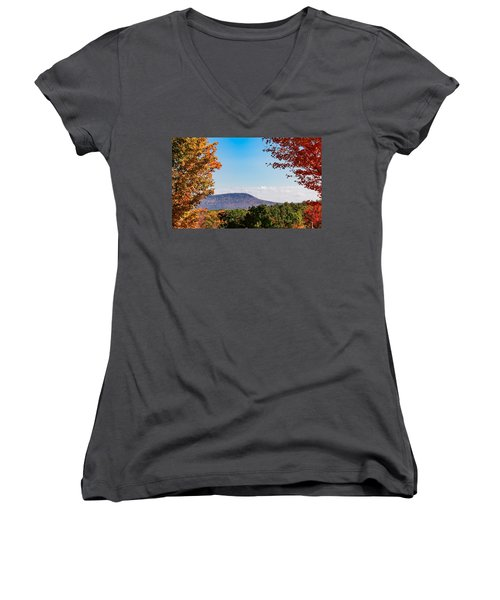 Westhampton View Of Mount Tom Women's V-Neck