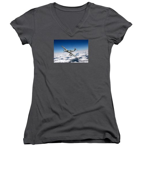 Westland Whirlwind Portrait Women's V-Neck T-Shirt