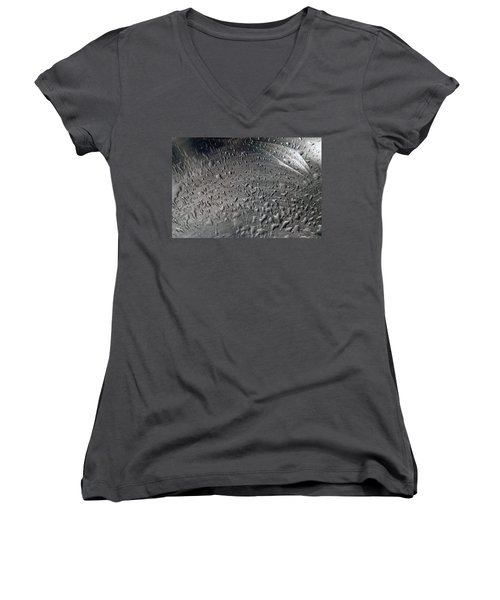 Wet Steel Women's V-Neck T-Shirt (Junior Cut) by Keith Armstrong