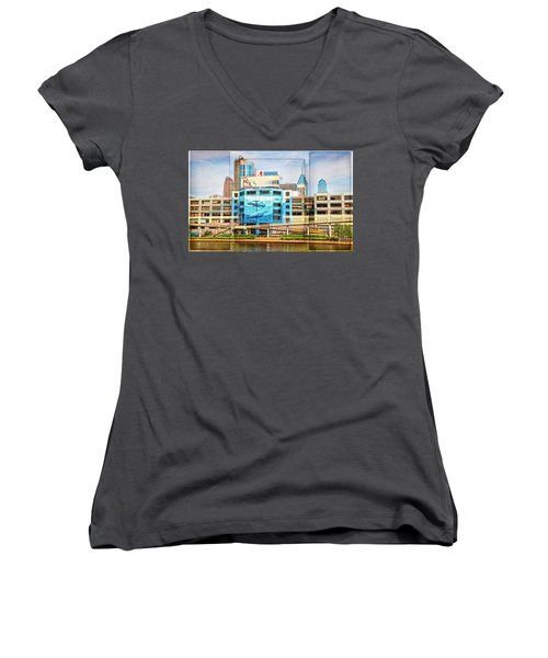 Whales In The City Women's V-Neck