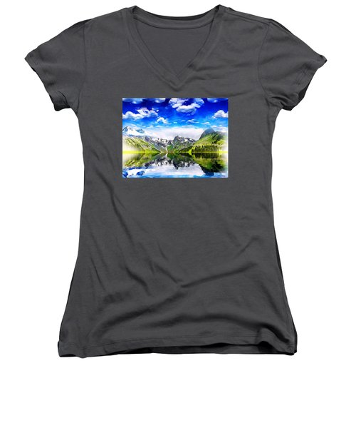 What A Beautiful Day Women's V-Neck T-Shirt