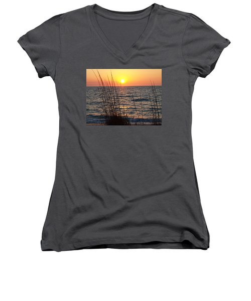 Women's V-Neck T-Shirt (Junior Cut) featuring the photograph What A Wonderful View by Robert Margetts