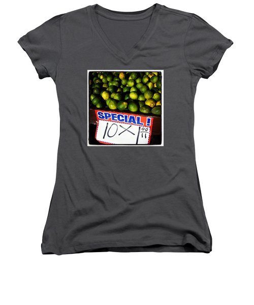 Women's V-Neck featuring the photograph What Lime Shortage? #dontbelievethehype by Mr Photojimsf
