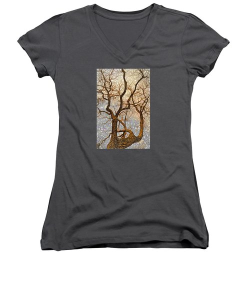 Women's V-Neck T-Shirt (Junior Cut) featuring the digital art What We See The Mind Believes by James Steele