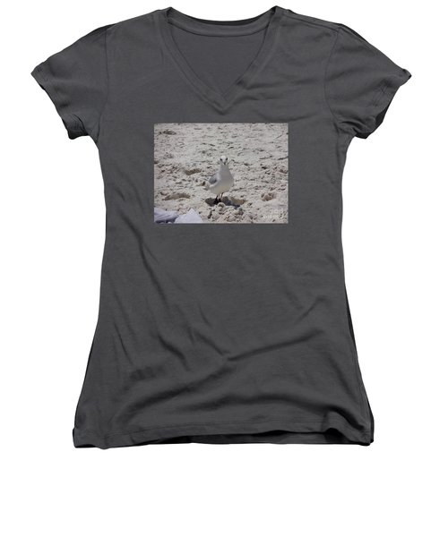 What's Up? Women's V-Neck T-Shirt (Junior Cut) by Megan Cohen