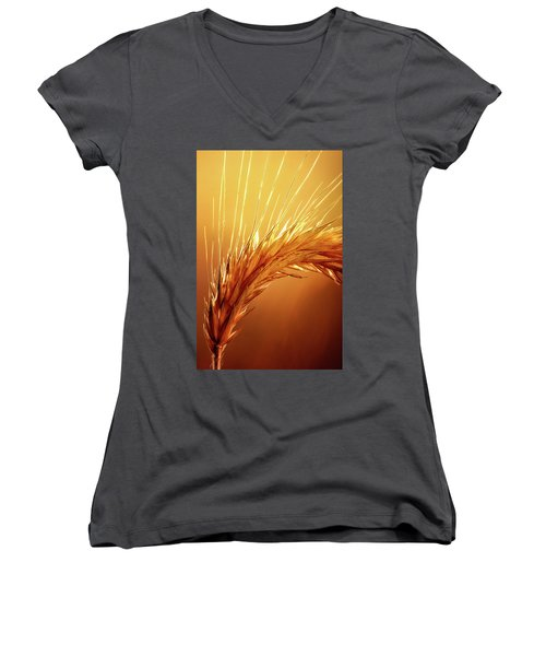 Wheat Close-up Women's V-Neck (Athletic Fit)
