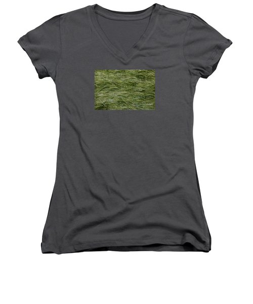 Women's V-Neck T-Shirt (Junior Cut) featuring the photograph Wheat Field by Jean Bernard Roussilhe