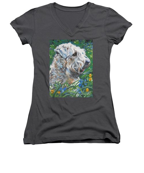 Wheaten Terrier Women's V-Neck (Athletic Fit)