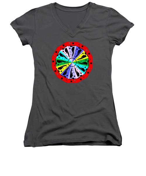 Wheel Of Color Women's V-Neck (Athletic Fit)