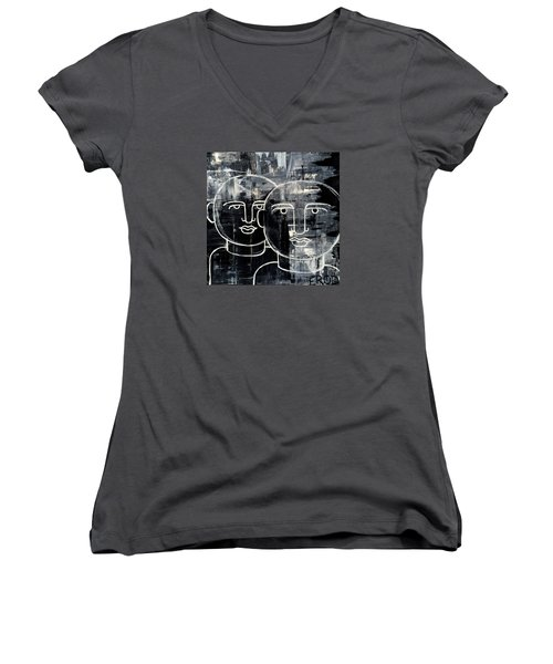 When The Goings Get Tough 50x50 Print By Erod Women's V-Neck