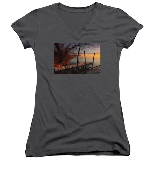 When The Light Touches The Shore Women's V-Neck