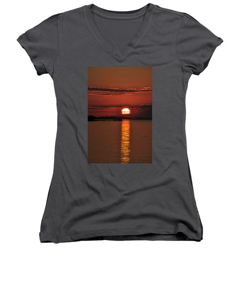 Women's V-Neck T-Shirt (Junior Cut) featuring the photograph When You See Beauty by Jan Amiss Photography
